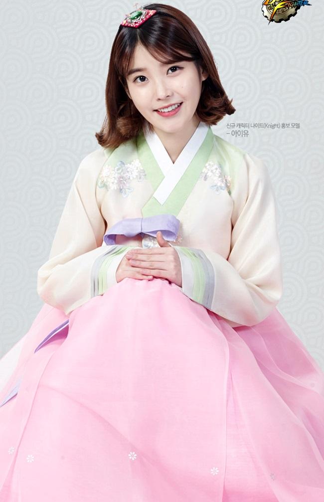 Sao Hàn xinh đẹp trong trang phục hanbok đón năm mới - 9