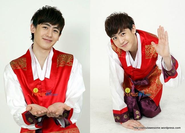 Sao Hàn xinh đẹp trong trang phục hanbok đón năm mới - 5