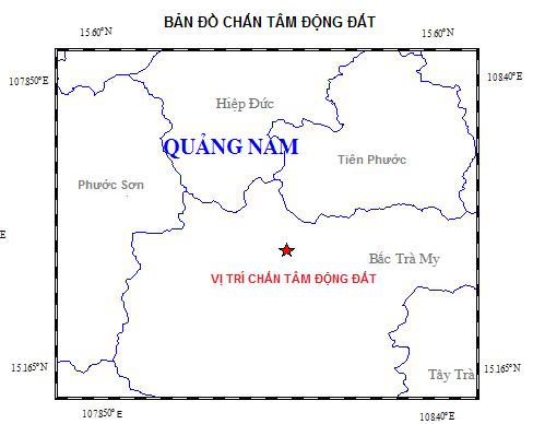 Quảng Nam: Động đất liên tiếp xảy ra ở huyện Bắc Trà My - 1