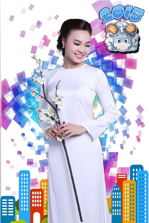 Lan Ngọc hóa thiếu nữ Việt đài các trong bộ ảnh Tết - 5