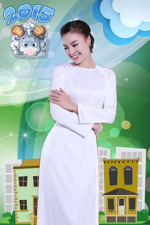 Lan Ngọc hóa thiếu nữ Việt đài các trong bộ ảnh Tết - 4