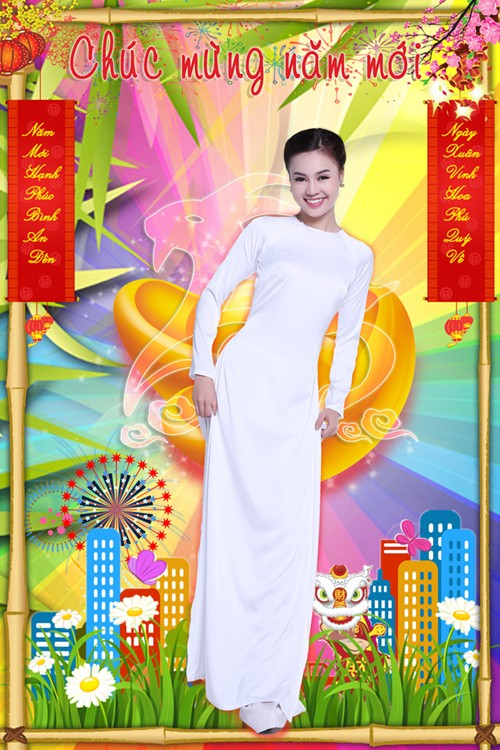 Lan Ngọc hóa thiếu nữ Việt đài các trong bộ ảnh Tết - 1