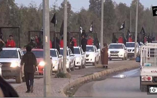 IS tung video nhốt tù  binh trong lồng sắt diễu phố - 1