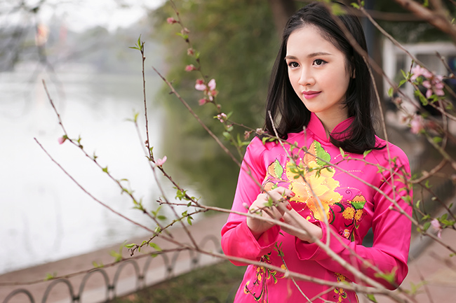 Ảnh du xuân tuyệt đẹp của hot girl Việt - 14