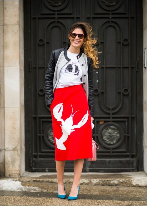 Luôn có cách để mặc đẹp với chiếc váy đỏ - 5