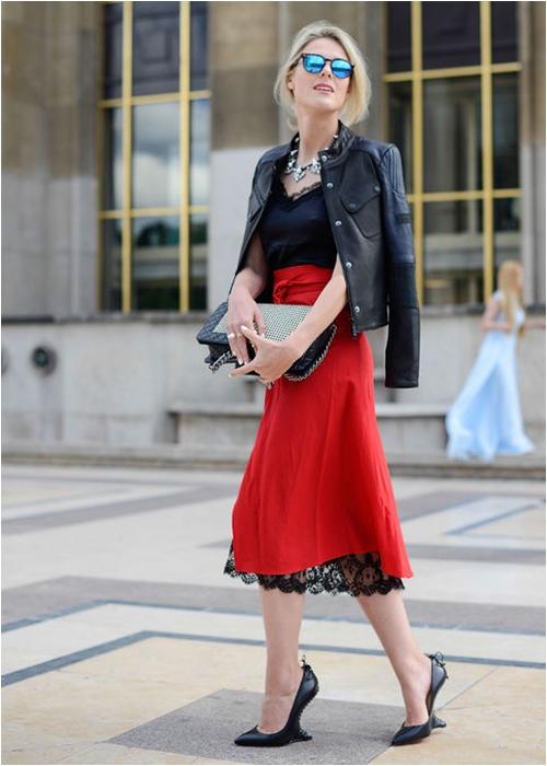 Luôn có cách để mặc đẹp với chiếc váy đỏ - 7
