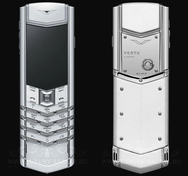Vertu Signature S   Chính thức trình làng vào năm 2007, Vertu Signature S thực sự trở thành tâm điểm sự chú ý khi có mặt trên thị trường. Máy sở hữu thiết kế đặc trưng trên các dòng sản phẩm Vertu với kiểu dáng thon dài, các phím bấm nhỏ xếp thành hình nhữ V, thân máy mỏng và chỉ nặng 238 gram. Vertu Signature S xứng đáng nằm trong cuốn lịch sử những chiếc điện thoại có thiết kế độc đáo và tinh xảo nhất.
