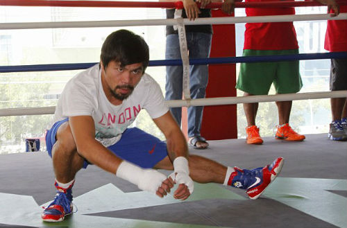 Pacquiao tập luyện tích cực chờ Mayweather - 2