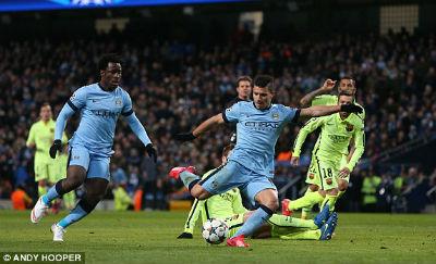 TRỰC TIẾP Man City - Barca: Messi sút hỏng phạt đền - 15