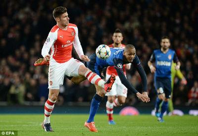 TRỰC TIẾP Arsenal - Monaco: Dấu chấm hết (KT) - 9