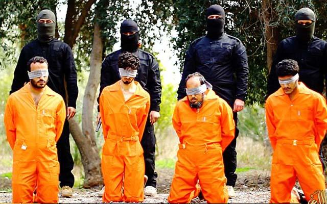 """Phiến quân IS tung video hành quyết dã man bốn """"gián điệp"""" Iraq - 1"""