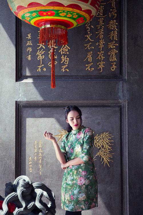Hoa hậu Ngọc Diễm khoe vai thon với áo yếm cách tân - 6