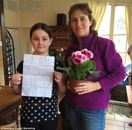 Bức thư cảm động của cô bé 10 tuổi viết cho người cha đã mất - 1