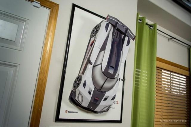 Kỳ lạ những mô hình siêu xe bằng giấy như thật - 1