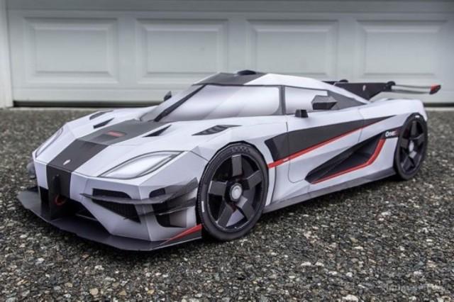 Kỳ lạ những mô hình siêu xe bằng giấy như thật - 2