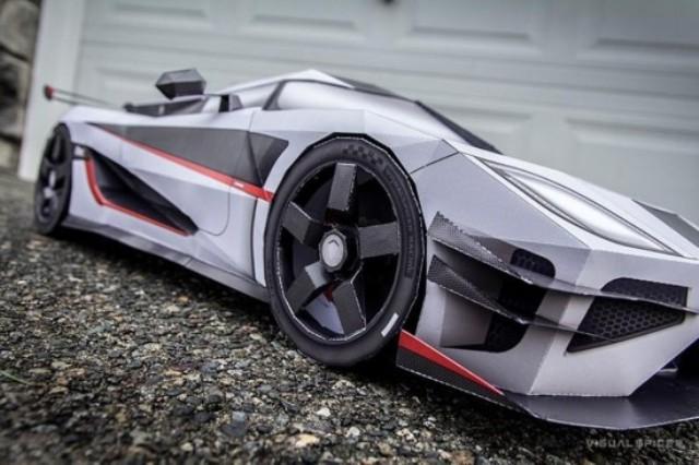 Kỳ lạ những mô hình siêu xe bằng giấy như thật - 3