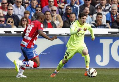 TRỰC TIẾP Granada - Barca: Song tấu Messi - Suarez (KT) - 4