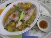 Cá điêu hồng nấu canh khóm, món ngon đất Tiền Giang