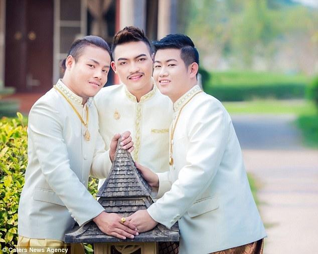 Đám cưới đồng tính 3 người siêu đặc biệt ở Thái Lan - 6