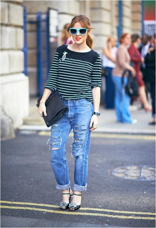 Jeans rách: Đặc quyền của nàng cá tính - 2