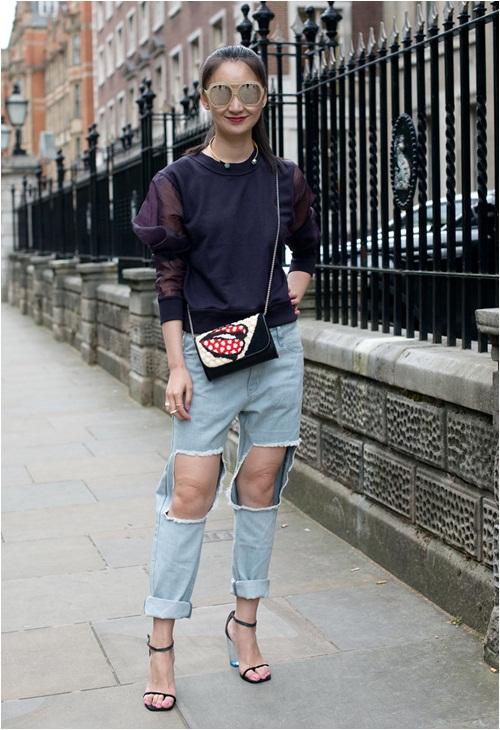 Jeans rách: Đặc quyền của nàng cá tính - 3