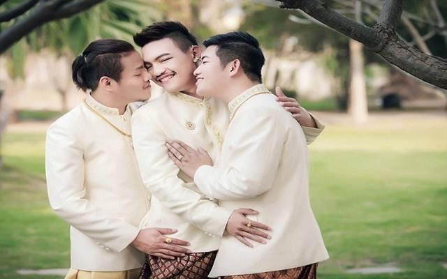 Đám cưới đồng tính 3 người siêu đặc biệt ở Thái Lan