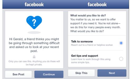 Facebook có tính năng ngăn người khác tự tử - 1