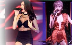 Thời trang diễn quán bar gợi cảm của ca sĩ Việt