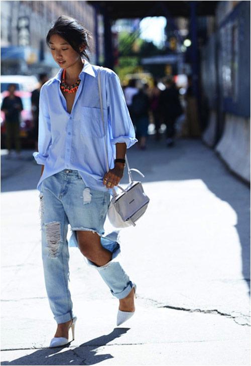 Jeans rách: Đặc quyền của nàng cá tính - 6