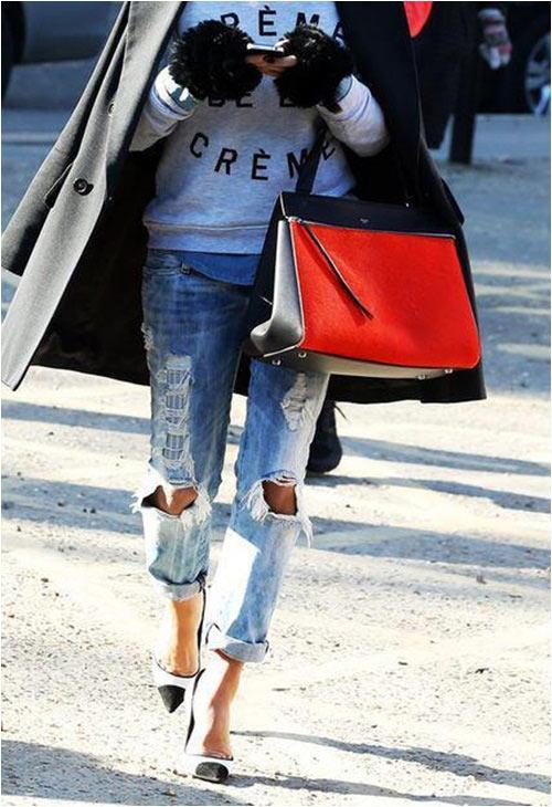 Jeans rách: Đặc quyền của nàng cá tính - 11