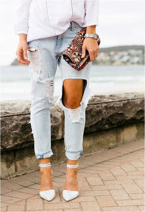Jeans rách: Đặc quyền của nàng cá tính - 5