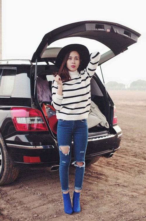 Nàng chân cong đừng vội chối từ quần jeans bó - 4