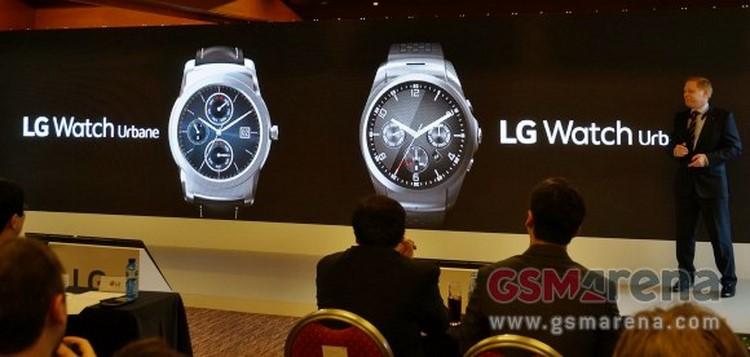 LG giới thiệu bộ đôi đồng hồ thông minh tại MWC 2015.