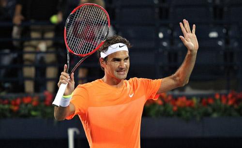 Hot shot Dubai: Federer trái 1 tay hảo hạng - 1