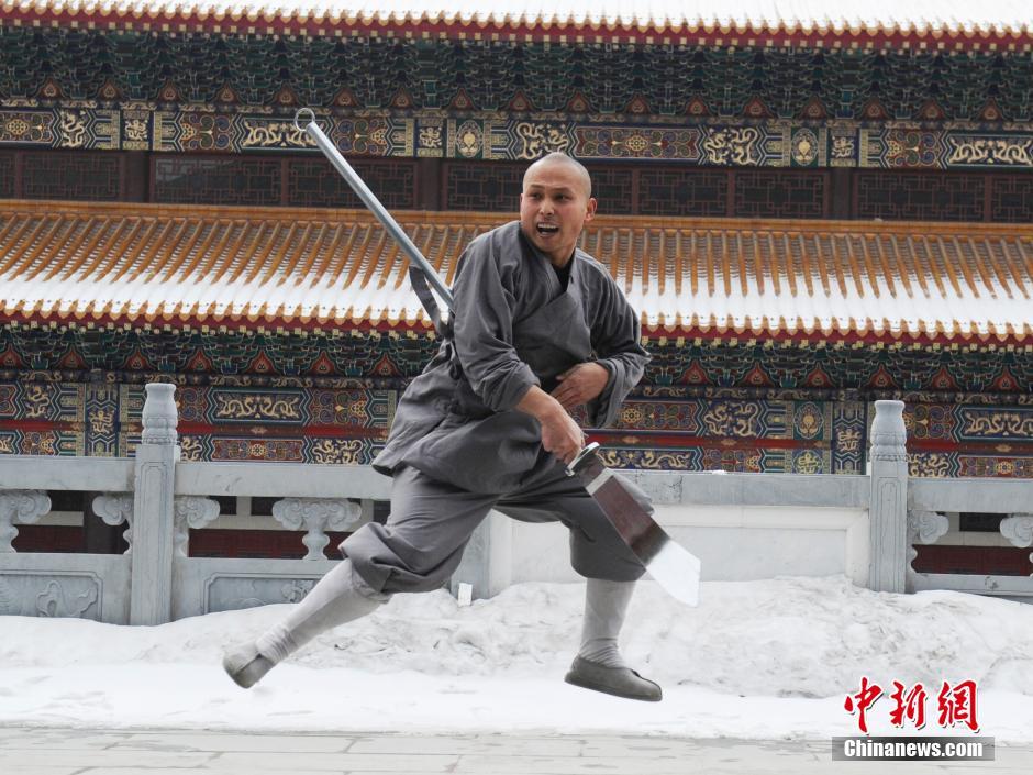 Ảnh đẹp: Võ tăng TQ khoe tuyệt kỹ kung fu Thiếu Lâm - 6