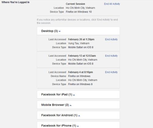 4 cách nhận biết có người lẻn vào tài khoản Facebook của mình - 3
