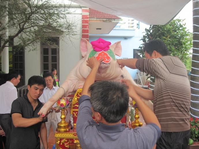 """Chuyện mắc màn nuôi """"ông lợn"""" ở một làng quê Hà Nội - 1"""