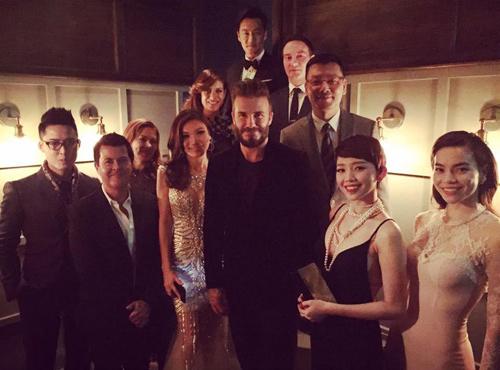 Hà Hồ, Tóc Tiên thích thú tham dự tiệc của David Beckham - 1