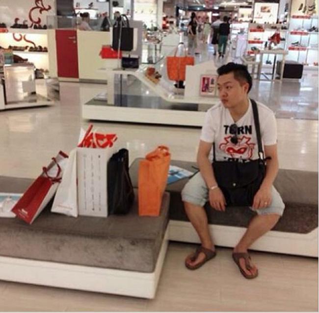 Hài hước với hình ảnh các chàng đợi nàng shopping - 9