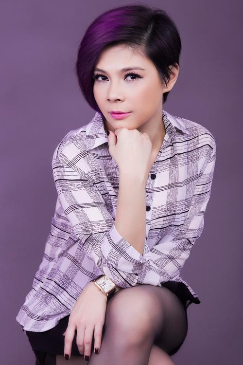 """""""Búp bê"""" Thanh Thảo trẻ trung khoe tóc tím - 5"""