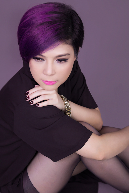"""""""Búp bê"""" Thanh Thảo trẻ trung khoe tóc tím - 7"""