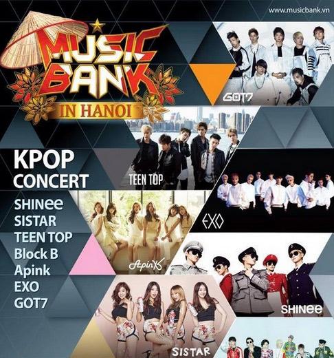 """Những thông tin hot về """"siêu show"""" Music Bank Hà Nội 2015 - 2"""