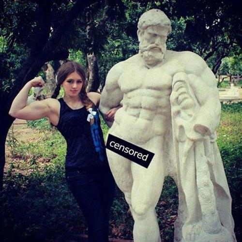 Cô gái Nga xinh như thiên thần có cơ bắp cuồn cuộn - 9