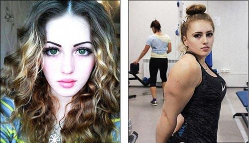 Cô gái Nga xinh như thiên thần có cơ bắp cuồn cuộn - 5
