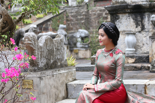 """Á hậu Huyền My """"hóa"""" thiếu nữ Hà Nội xưa - 5"""