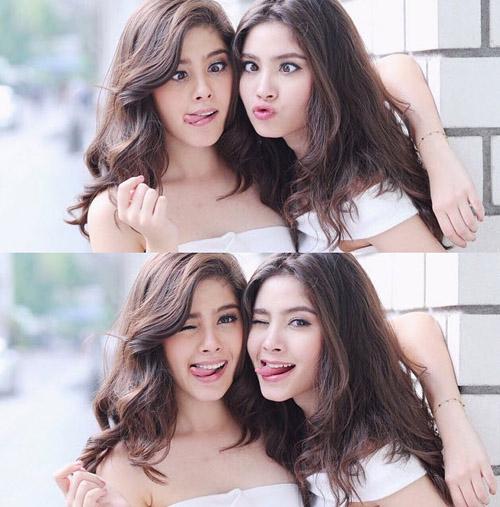 Chị em sinh đôi Thái Lan gây sốt vì vẻ đẹp ngọt ngào - 1