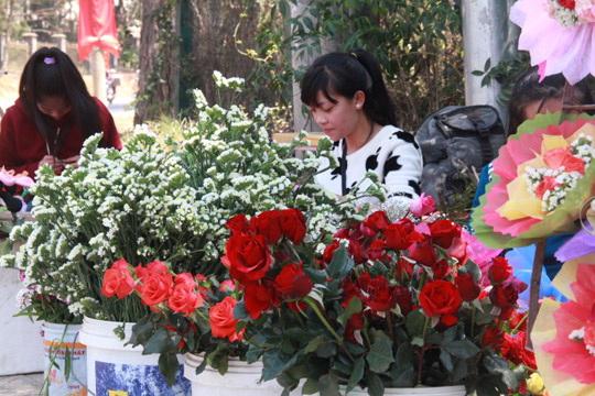 """Đà Lạt: Người bán hoa hồng """"trúng đậm"""" - 3"""