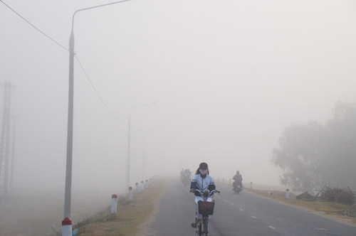 Quảng Nam: Sương mù phủ trắng thành phố Tam Kỳ - 1