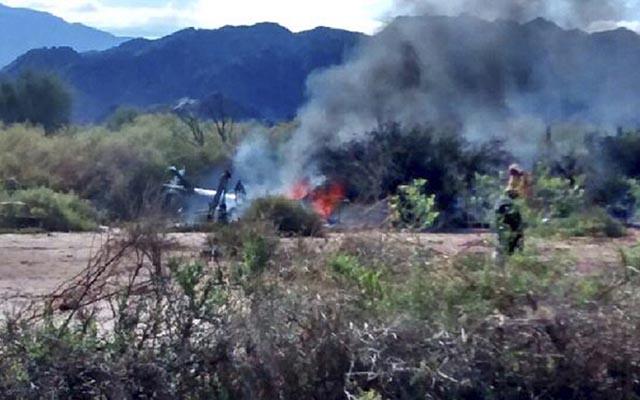Argentina: 2 trực thăng nổ trên không, 10 người tử vong - 1