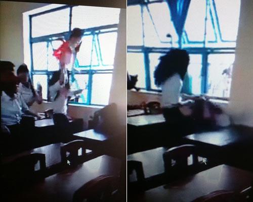 Clip: Nữ sinh lớp 7 bị đánh hội đồng dã man trong lớp - 1